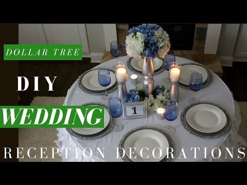 Diy wedding centerpiece dollar tree reception table decoration diy wedding centerpiece dollar tree reception table decoration youtube junglespirit Choice Image