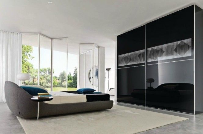 Furniture, Choosing Best Closet Interior Design Ideas for Your Home: Glass Black Bedroom Closet Ideas