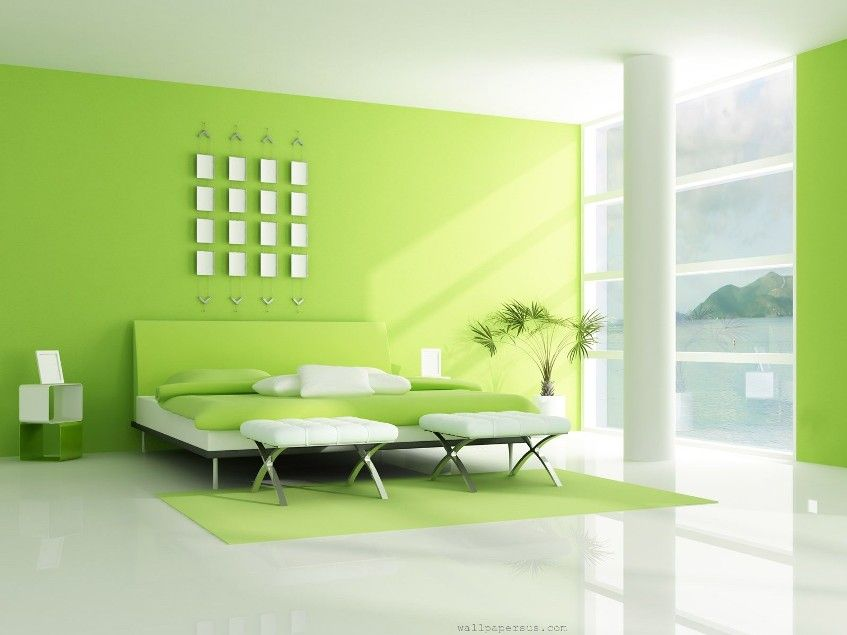 Cleaning Living Room Painting simple green white bedroom interior design | bedroom designs