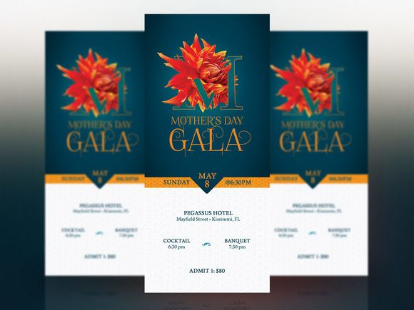 mothers day banquet ticket template by godserv marketplace on