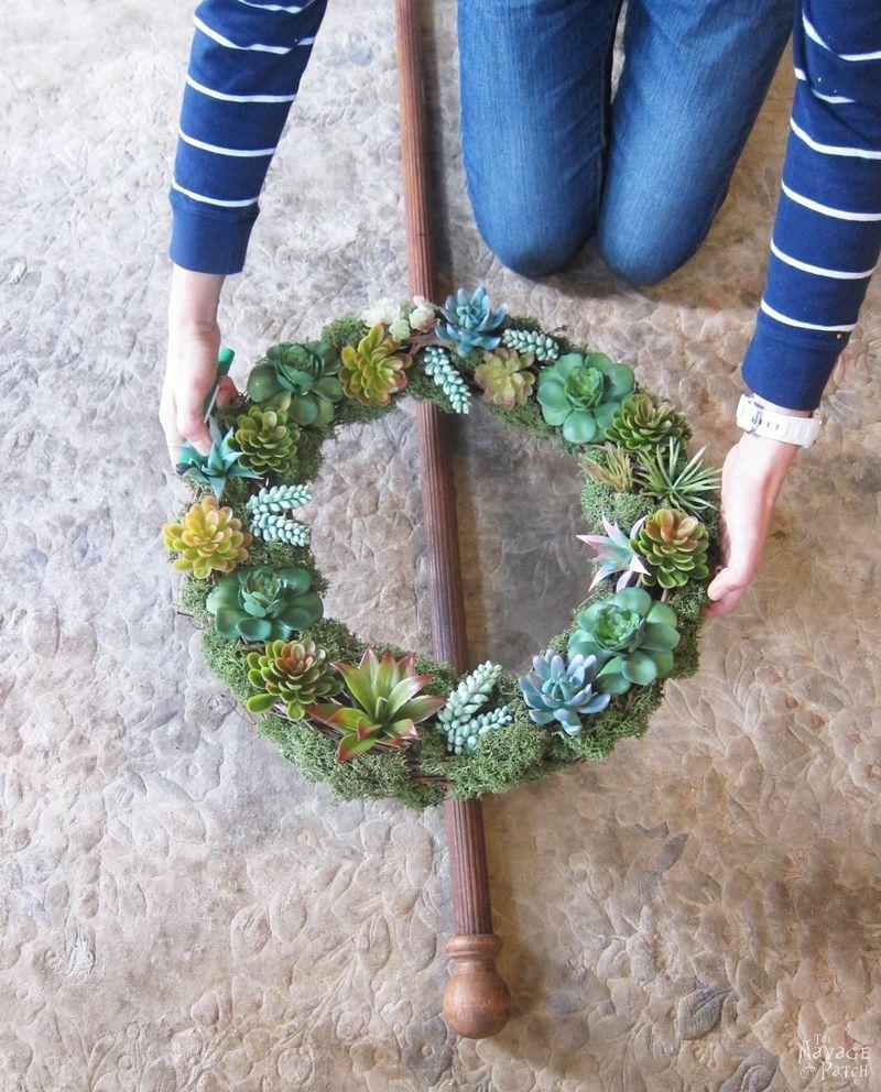 Diy Wreath Stand In 2020 Wreath Stand Diy Spring Wreath Spring Decor Diy