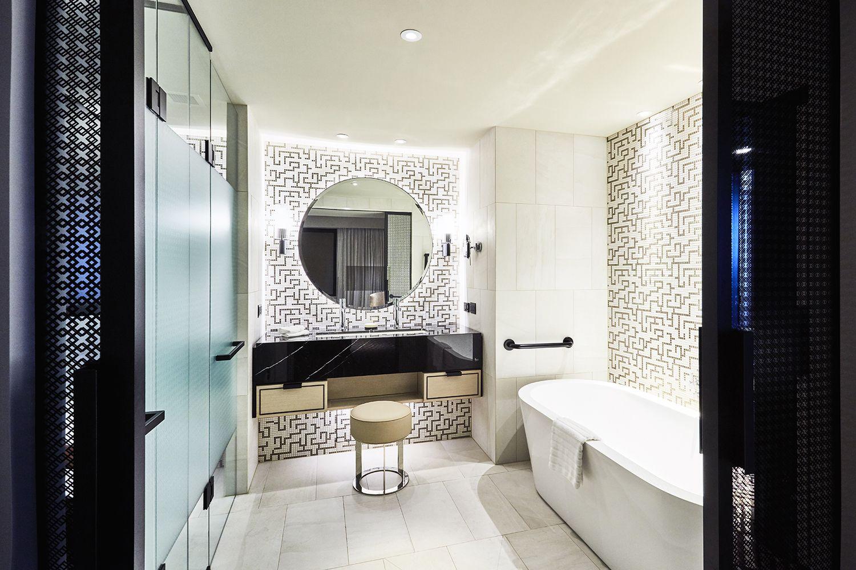 Piemme Geostone Bianco tiles | Astral Hotel, The Star Sydney ...