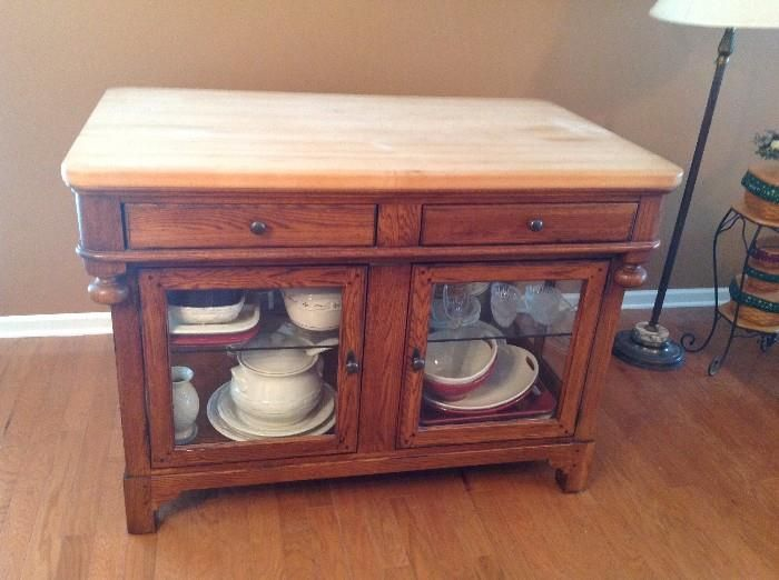 Lexington Bob Timberlake Oak Butcher Block Kitchen Island Rare Unique
