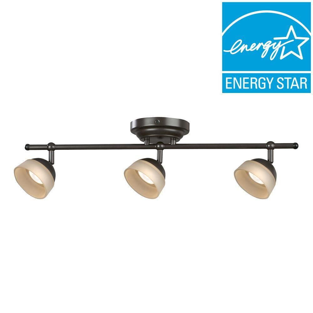 Aspects Madison 3 Light Oil Rubbed Bronze Dimmable Fixed Track Lighting Kit Madf330030lrb The Home Depot