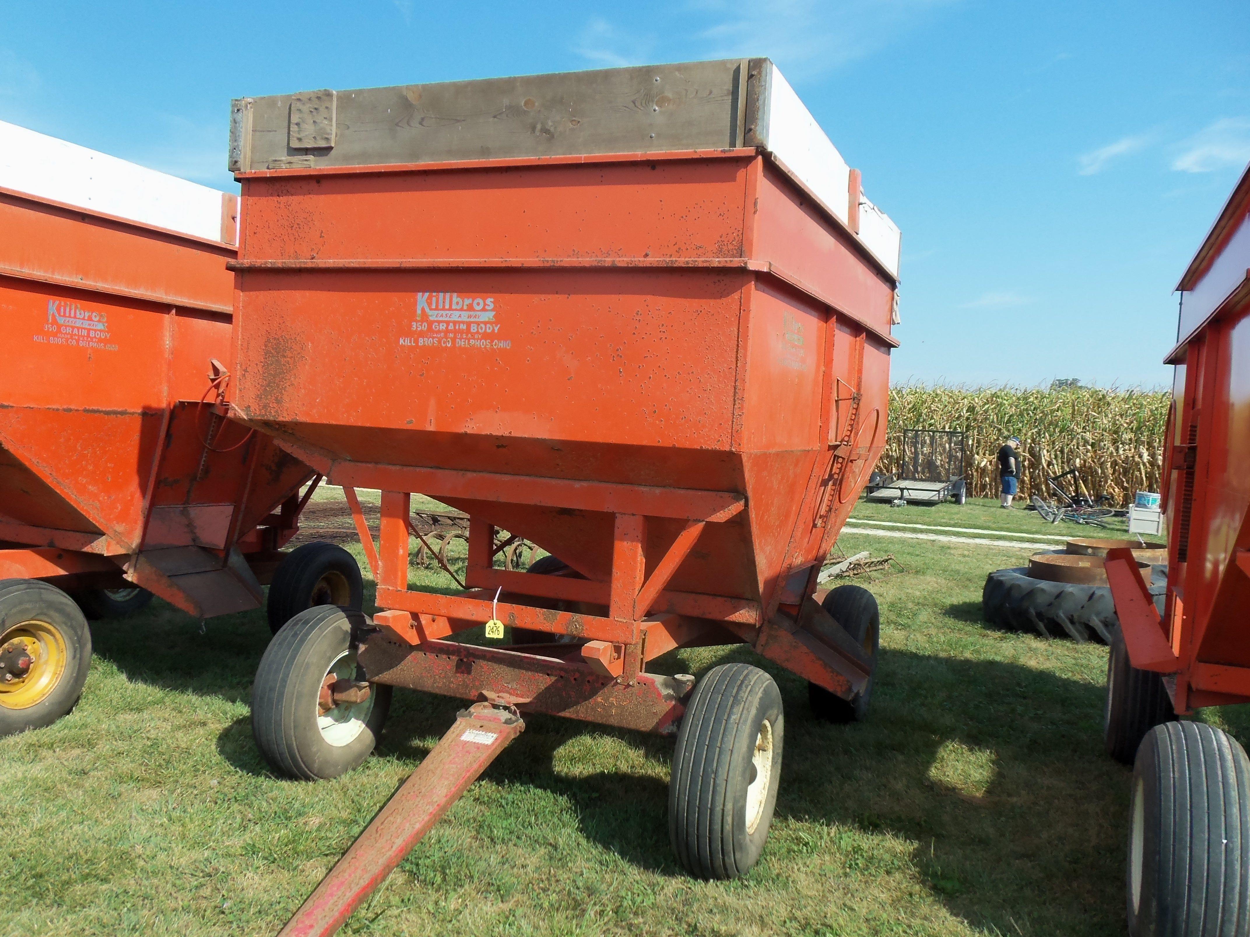 Orange KillBros 350 gravity cart