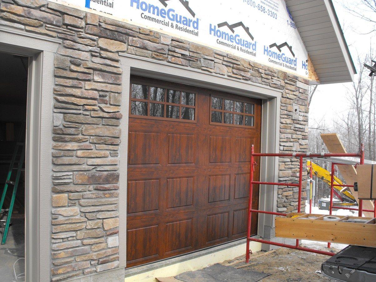 Stone Veneer Installation Regarding Stone Veneer Installation Garage Door Stone Veneer Installation O Stone Veneer Exterior House Exterior Architecture Details