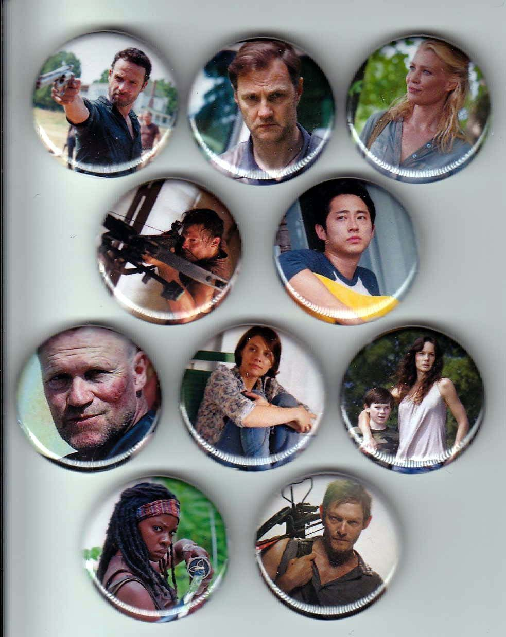 The Walking Dead Inspired 1\u201d Pinback Buttons