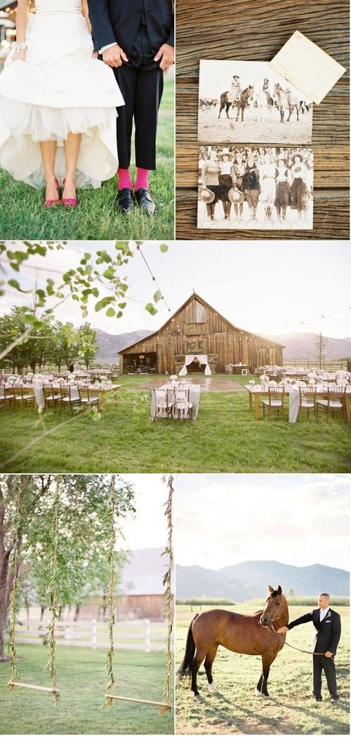 Rustic & Country... I'm in love with this wedding.