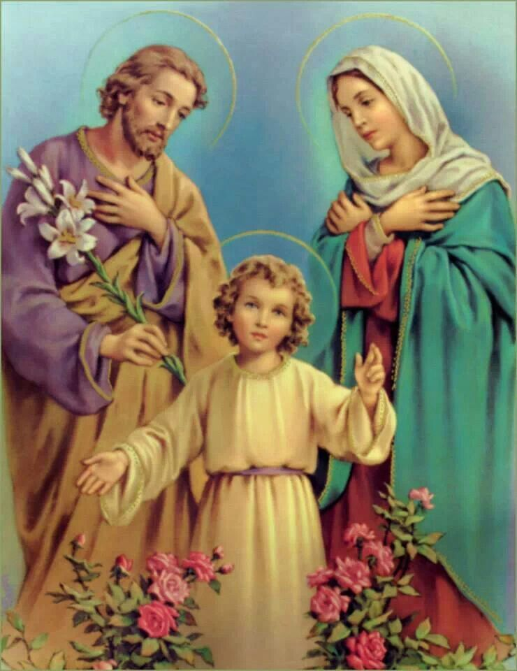 Holy Family Holy Family Nativity Jesus Mary And Joseph Blessed