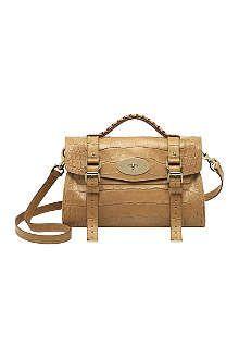 MULBERRY Alexa croc-print satchel. Mulberry Alexa Soft Croc Print Leather  Messenger  amp  Shoulder Handbag ... 7e0458cbdfd73