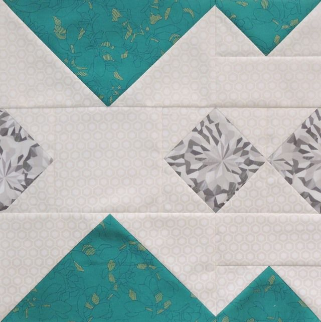 Alpine quilt block - this tutorial makes a beautiful quilt when using multiples of this block with no sashing!
