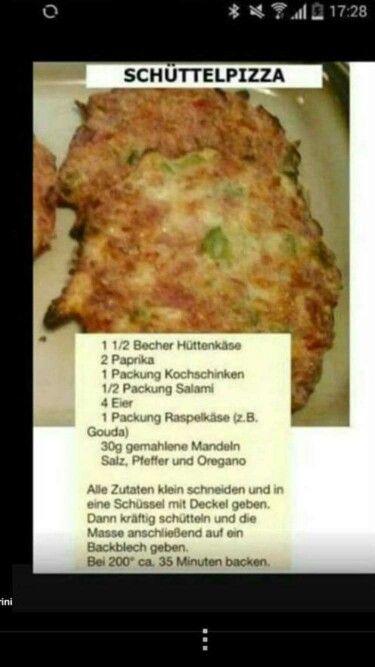 Schüttelpizza low carb