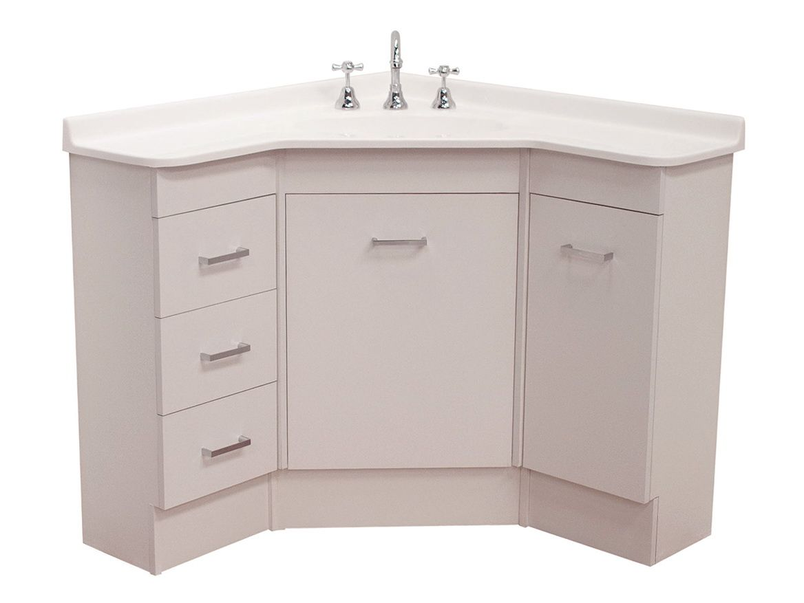corner bathroom vanity unit home design ideas pinteres