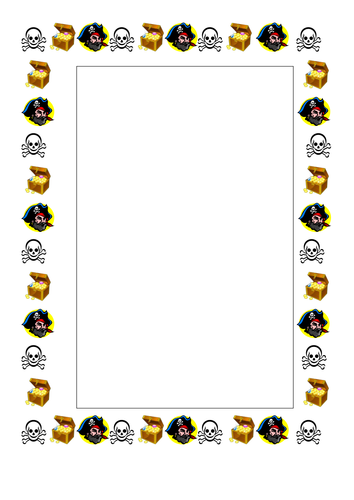 Pirate themed writing frame | teaching stuff | Pinterest | EYFS and ...
