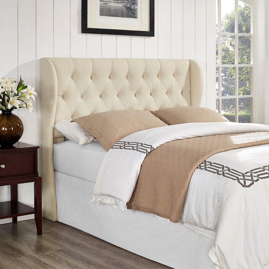 York Tufted Upholstered Headboard Bed frame, headboard
