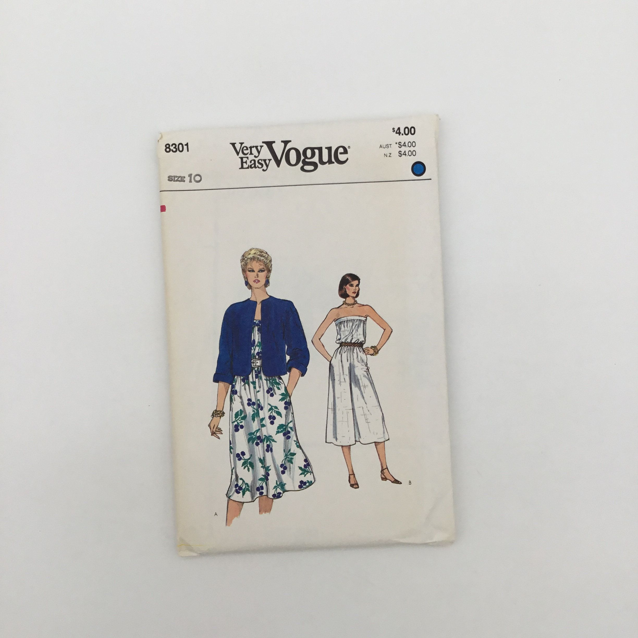 Vogue 8301 Jacket Dress And Jumpsuit Size 10 Bust 32 5 Vintage Uncut Sewing Pattern In 2020 Sewing Patterns Vintage Sewing Patterns Vintage Character