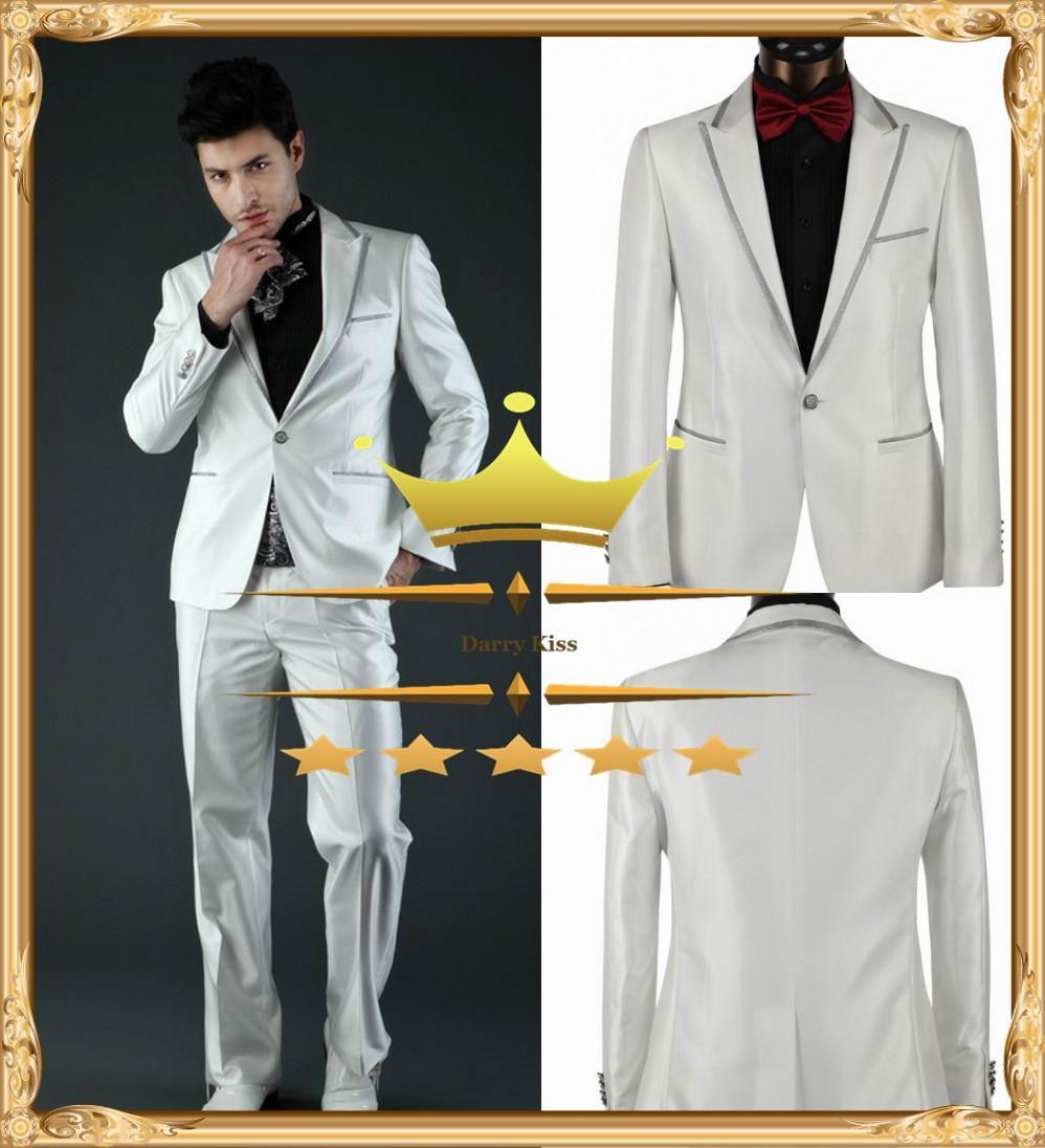 Cheap Mens Suits With Pants Wedding Suit New Arrival Peak Lapel ...