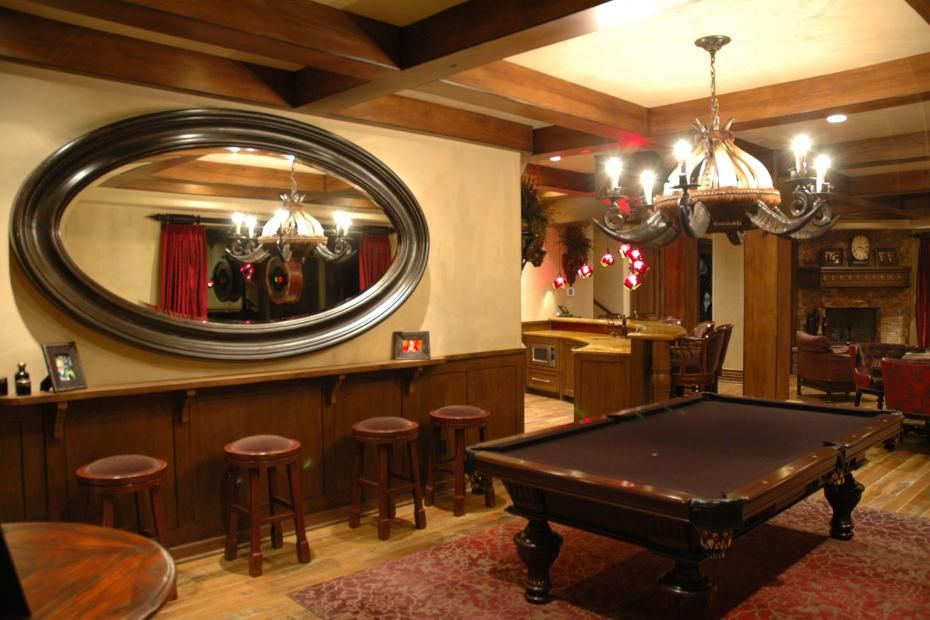 A Phenomenal Game Room With Pool Table In A Tuscan Style