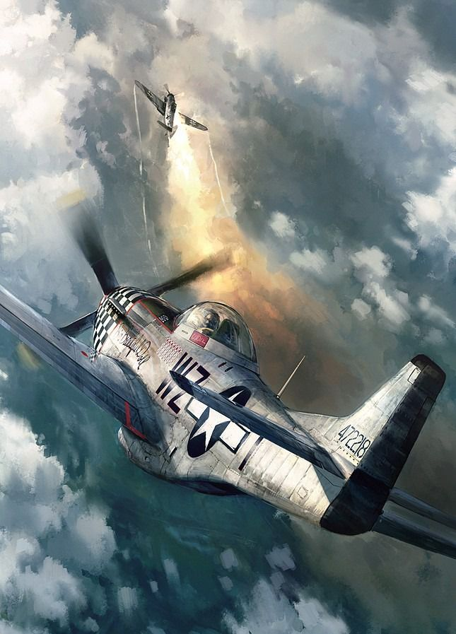 P 51 Mustang Scifi Wallpaper Planes Aircraft Aviation Aviation Art