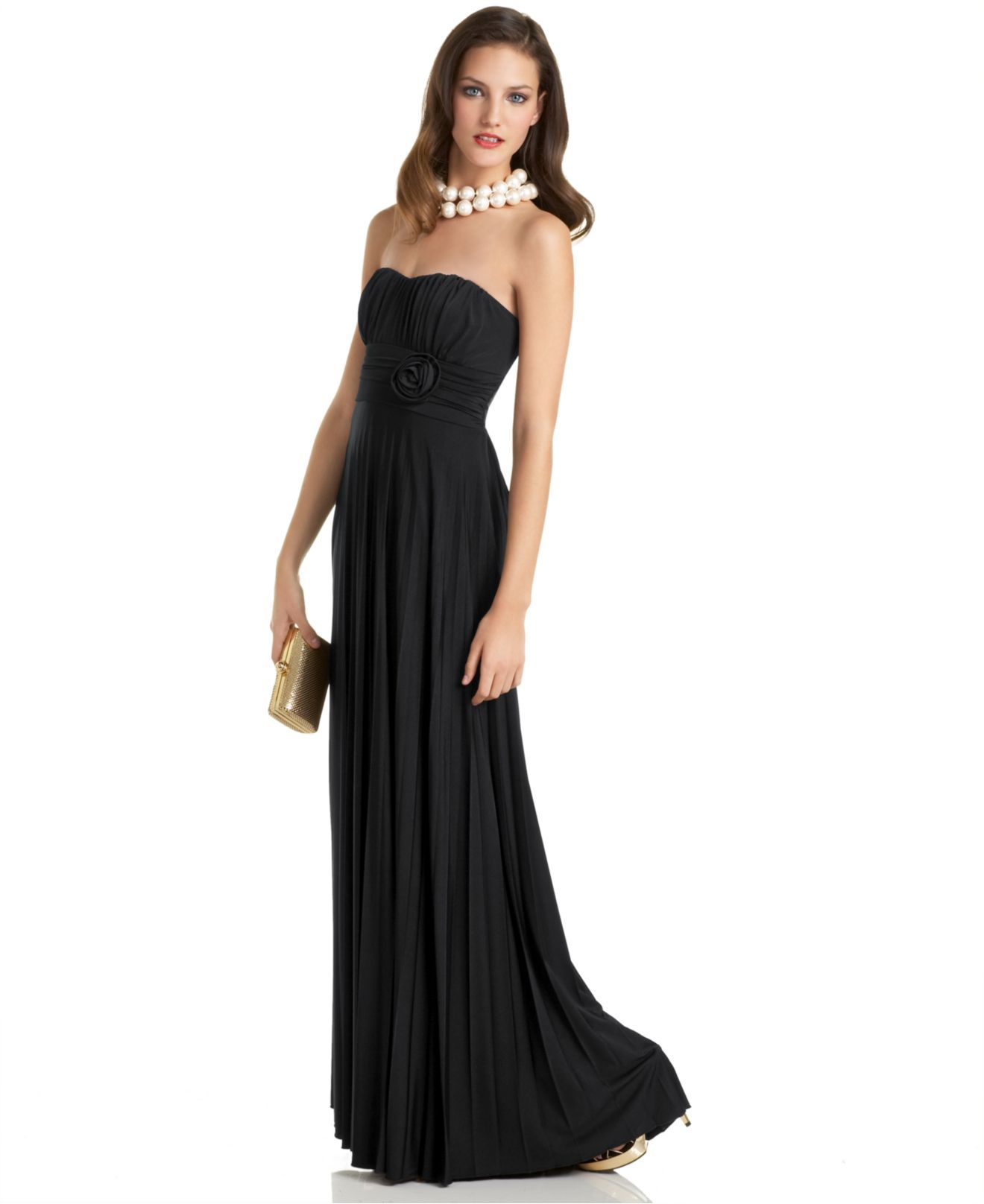 Speechless dress strapless gown with rose waist detail womens speechless dress strapless gown with rose waist detail womens dresses macys ombrellifo Images