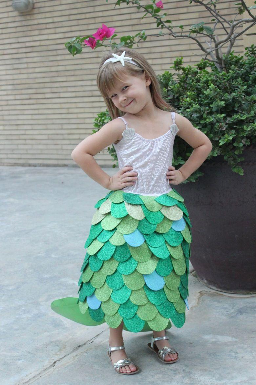homemade mermaid costume mama papa bubba sofyia pinterest