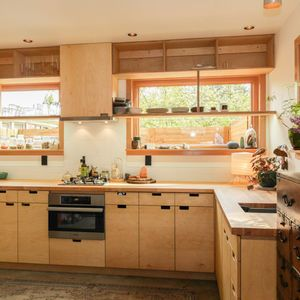 Portland Kitchen Design Small Portland Kitchen With Plywood Cabinets And Oak Countertops