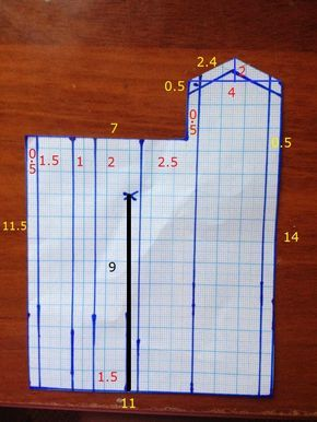 Блог о шитье: Рукава. Как построить выкройку разреза рукава (манжета)? #blousesewingpattern
