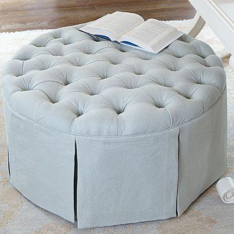 Ballard Designs - hayes round tufted (storage) ottoman - Ballard Designs - Hayes Round Tufted (storage) Ottoman My Style
