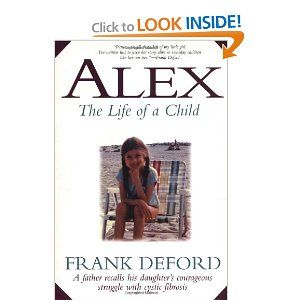 Frank is a brilliant writer and close family friend's with my Mom's side of the family.  I grew up with Alex...she was my close friend in Westport, CT and she died in 1980 when I was twelve and she was eight... Alex will always be close to my heart...she's was a very special/wise young girl...