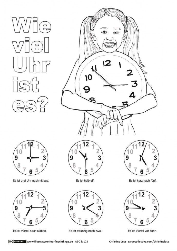 ABC und 123 - Uhrzeit Uhr -Lutz | Óra | Pinterest | Uhrzeiten, Uhren ...