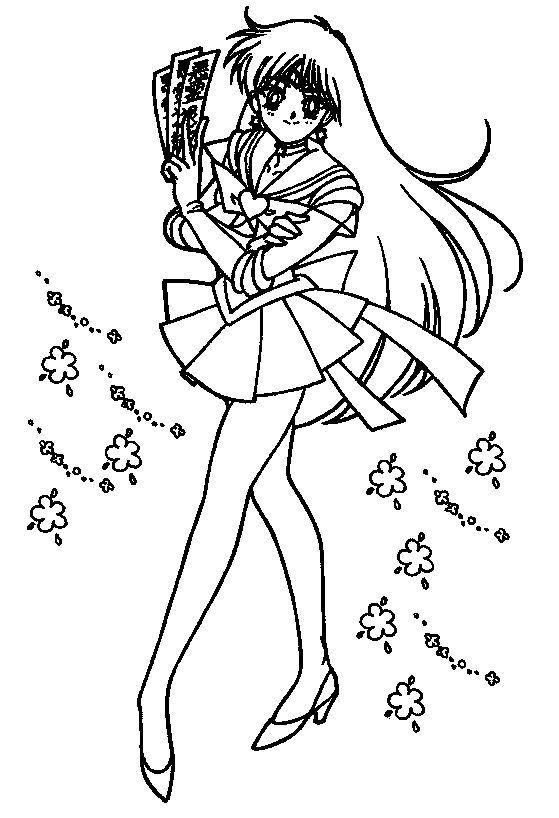 Sailor Mars Cute | Sailor Moon Coloring Pages | Pinterest | Sailor ...