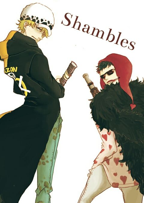 Shambles clothes swap - Trafalgar D. Water Law and Donquixote Rocinante, (Corazon), (Corasan, Cora-san) One piece