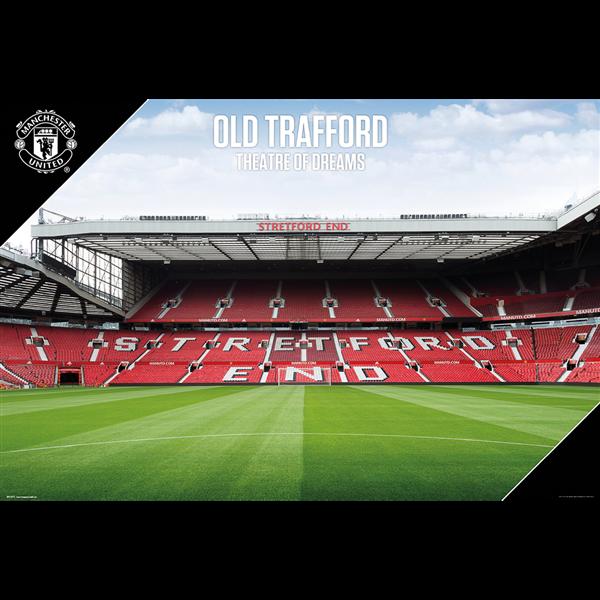 Manchester United Stadium Poster 2017 Manchester United Stadium Manchester United Old Trafford Old Trafford