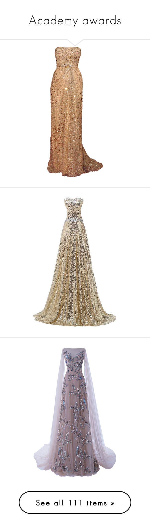 """""""Academy awards"""" by dalya-b ❤ liked on Polyvore featuring dresses, gowns, vestidos, long dresses, beige dress, beige gown, reem acra, reem acra dresses, long dress and sheer evening gown"""