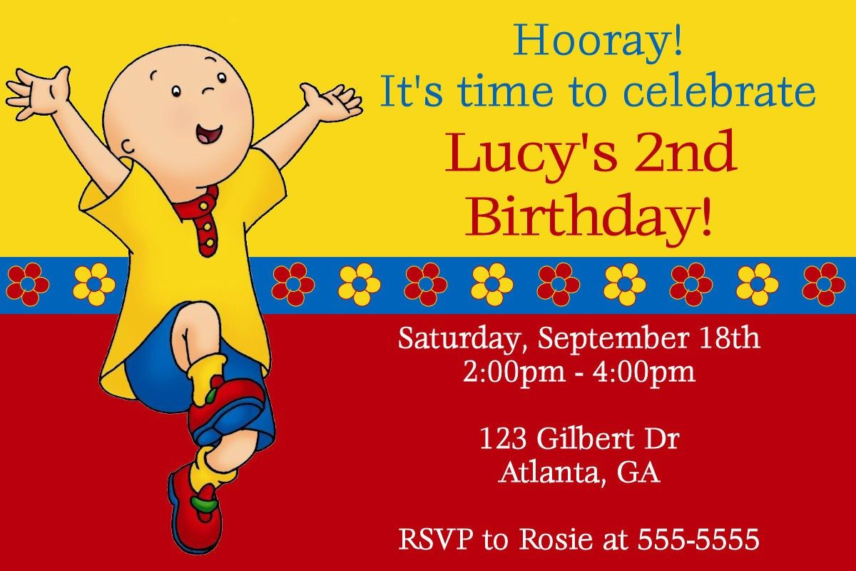 Famous Caillou Birthday Invitations Pictures - Resume Ideas ...