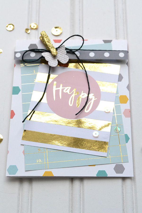 Diy Gold Foil Cards Heidi Swapp Minc Scrapbook Com With Images