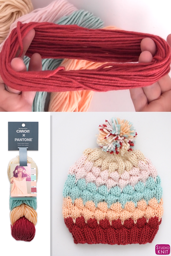 Bubble Beanie Hat Knitting Pattern