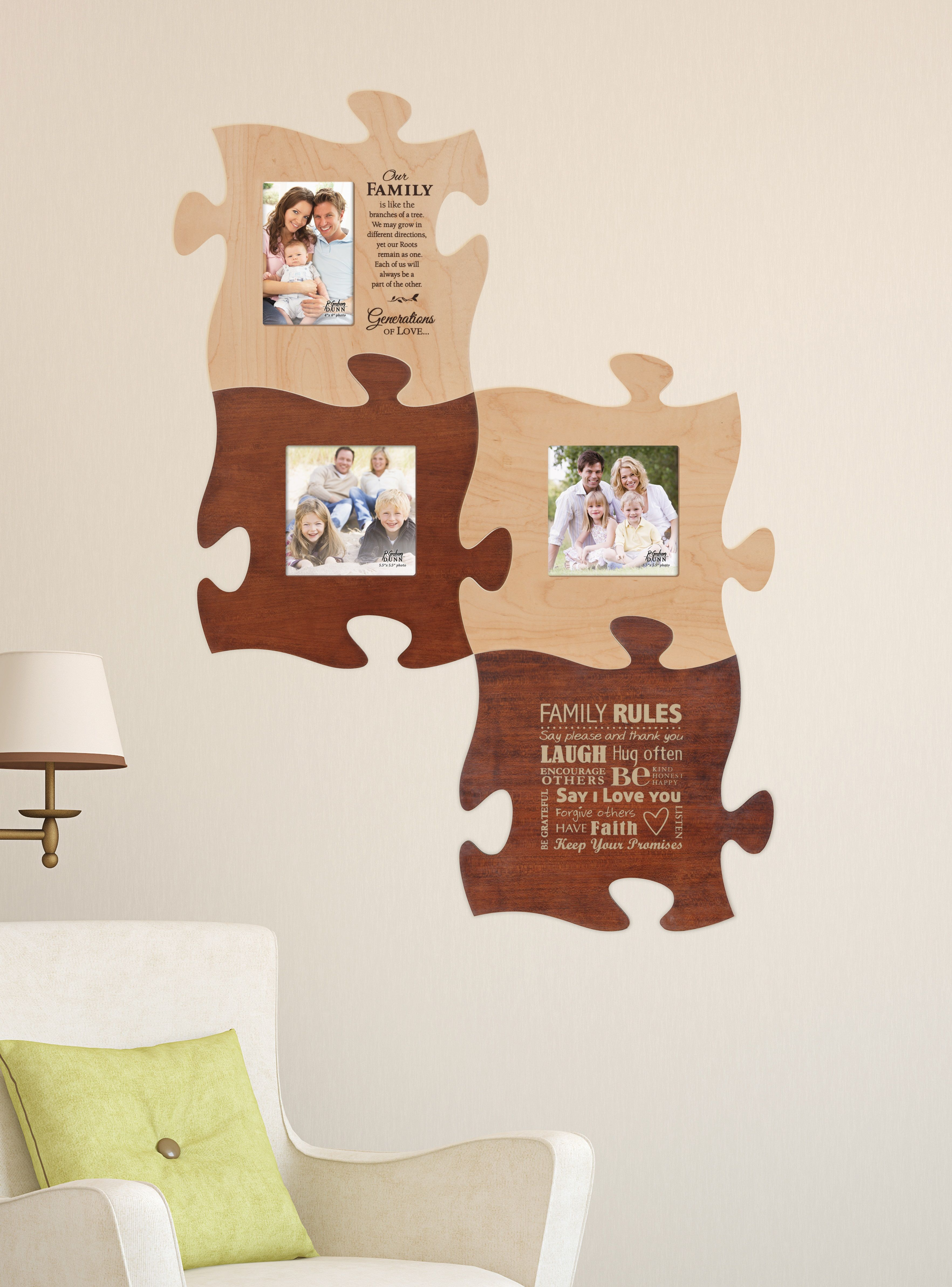 Puzzle Piece Your Family And Friends Together With This Wall Art There S Room For Everyone Plus Integrat Puzzle Pieces Christian Book Store Framed Wall Art