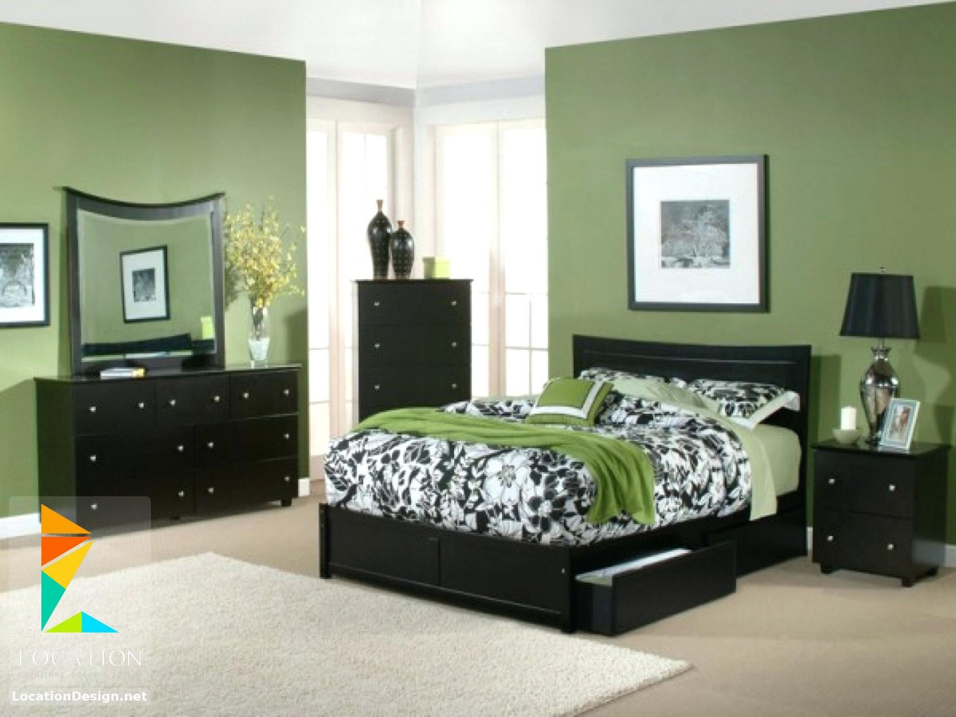 بالصور أحدث الوان دهانات غرف نوم للعرسان 2018 2019 لوكشين ديزين نت Green Bedroom Walls Bedroom Paint Colors Master Green Master Bedroom