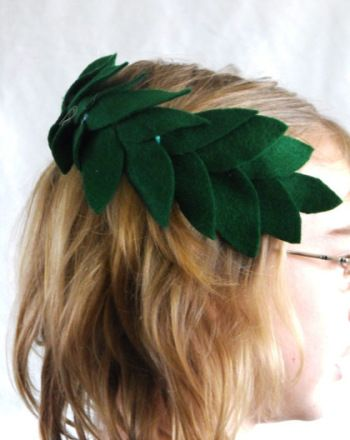Activities How To Make A Laurel Wreath An Old Head Band And Some Green Felt Become Crown For Your Young Champion