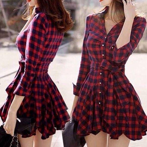 8550c76c8 VESTIDO XADREZ MANGA LONGA - Vestido xadrez com mangas longas e cinto no  mesmo tecido. Tecido Grosso flanelado. Aproveite o final do inverno!
