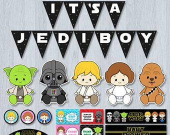 Star Wars Baby Shower Invitation, Star Wars Baby Shower, Star War baby, Starwars Baby shower ...