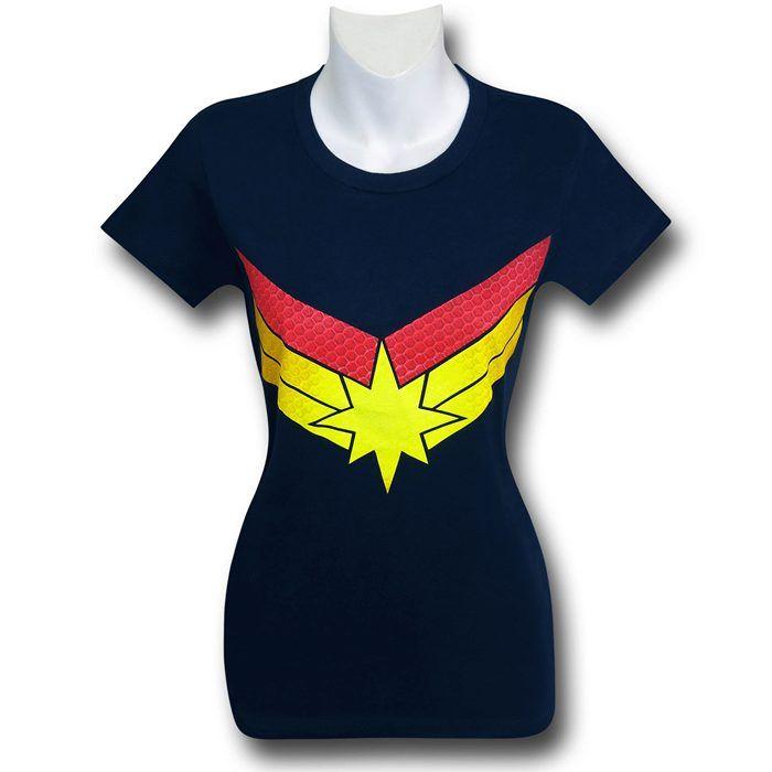27751a1e82 Captain Marvel Symbol Women s Fitted T-Shirt em 2019