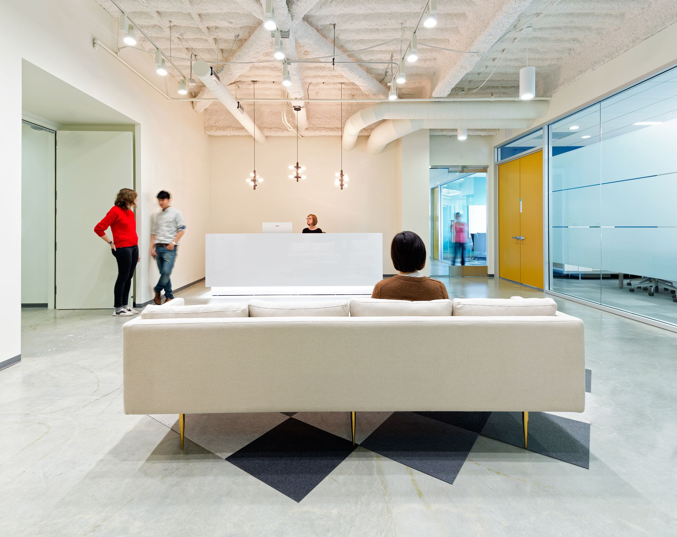 Simple Office Reception Design Waiting Area Reception Simple And Clean Glass And A