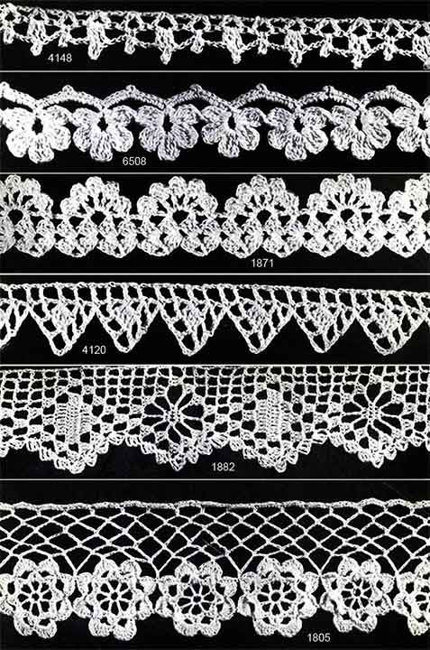 Crocheted Edging Patterns Originally Published In You Asked For