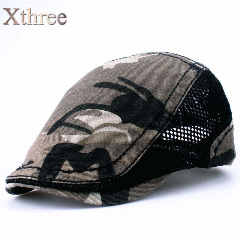 xthree unisex Fashion camouflage Beret Cap sway cap Hats for Men and Women  Visors Sun hat Gorras Planas Flat Caps Berets aae3caf3c4e0