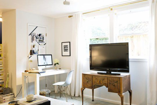 Awesome Decoration Inspiration: Fitting A Home Office Into A Small Space