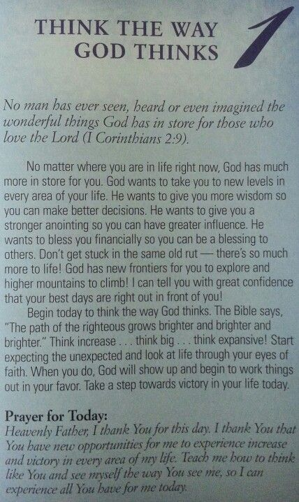 Joel Osteen's 30 Thoughts for Victorious Living - Day 1