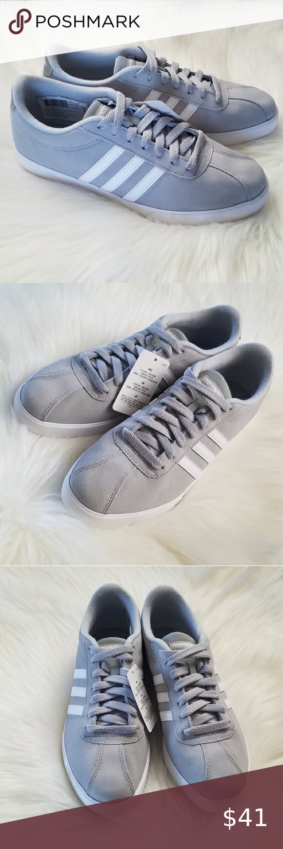 NWT Gray & white Adidas neo comfort footbed shoes | Tennis shoes ...
