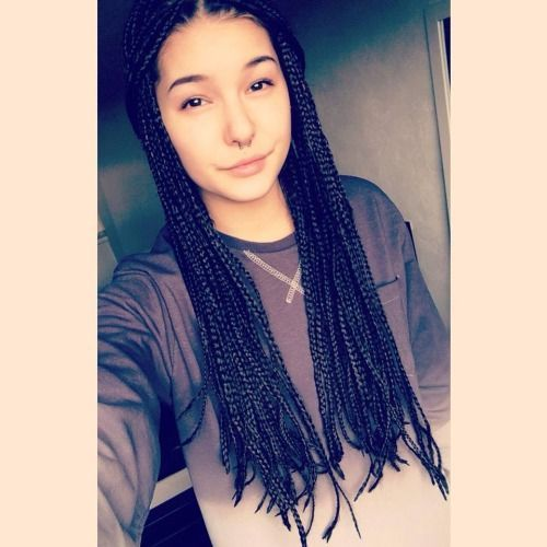 box braids white girl - Buscar con Google